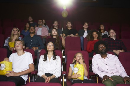 Audience In Cinema Watching Film