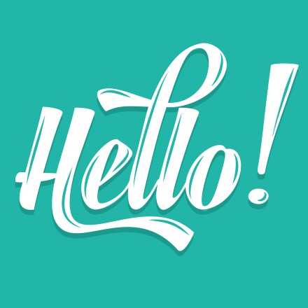 "Calligraphic  Writing ""Hello"", vector illustration"