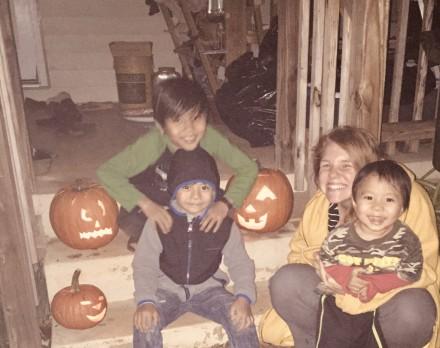 Our jack-o'-lanterns!