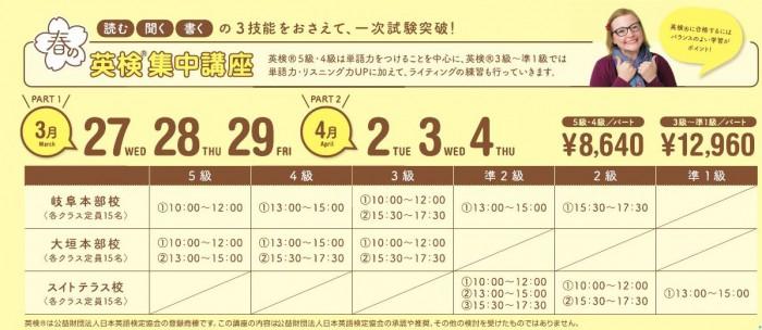 2019春休み英検集中講座